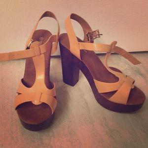 Beige/Tan Sandals—Top Moda—9